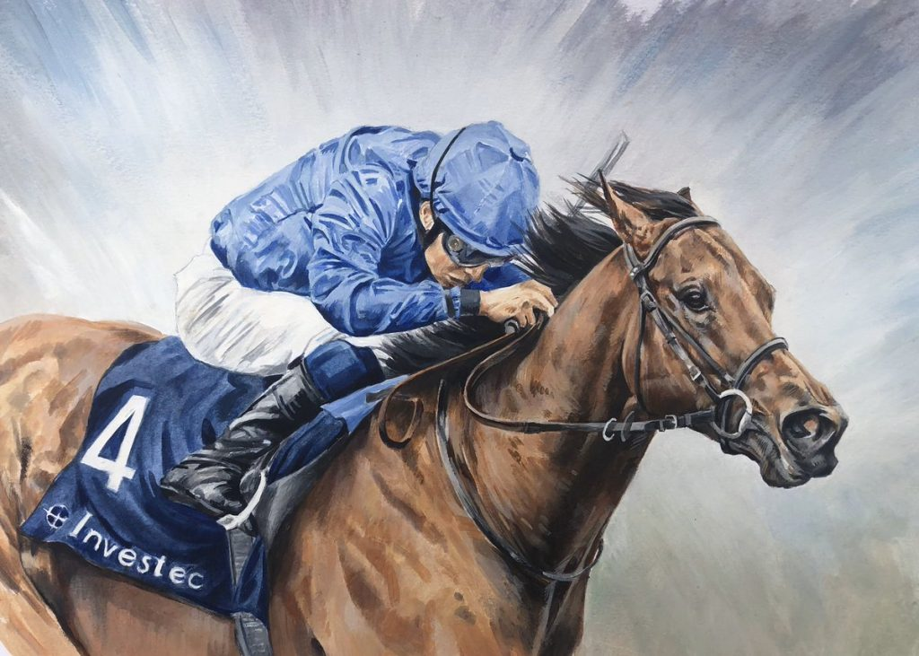On his final start, Pinatubo won the G1 Dewhurst Stakes at Newmarket, in effect unifying the titles of British and Irish champion juvenile. But, to do it he had to overcome a track bias by winning on the slower ground in the centre of the Rowley Mile. That two-length victory over Arizona (unlucky fifth in the G1 Breeders' Cup Juvenile Turf) did not rate so highly as his Irish performance, but he again showed tremendous tactical weapons in moving up through the gears to win with great authority.